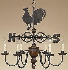 Rooster Chandelier. chandeliers