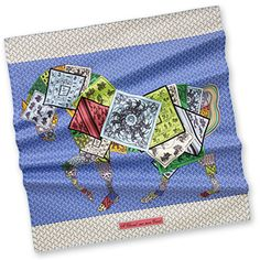 Hermes graphic horse scarf