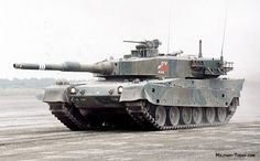 The Type 90 main battle tank for a period of time was the most expensive production MBT. Army Vehicles, Armored Vehicles, Tank Warfare, Military Armor, Armored Fighting Vehicle, Battle Tank, Military Equipment, Modern Warfare, Historical Pictures