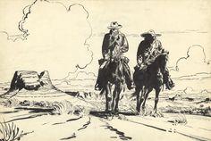 Jerry Spring: pages de garde collection spéciale grand format par Jijé - Œuvre originale