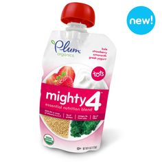 Check out Plum Organics Mighty 4™ Blend – Kale, Strawberry, Amaranth & Greek Yogurt