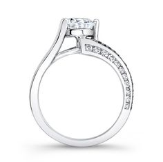 Barkev's Black & White Diamond Engagement Ring 7873LBK