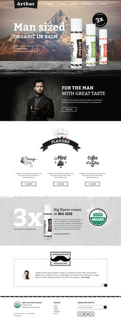 Landing page design Web Mockup, Organic Lip Balm, Wordpress Website Design, Web Inspiration, Landing Page Design, Design Projects, Design Ideas, The Balm, Graphic Design