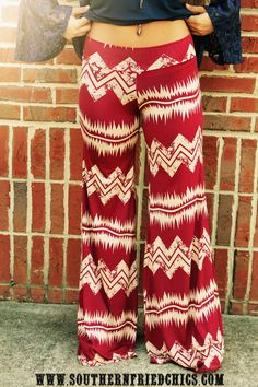 Chevron Palazzo Pants $34.99! I've seen pple wear these and they cool so cute and comfortable want one!!!