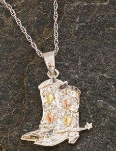 Landstrom's Sterling Silver Boot Pendant $84.99