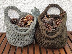 Crocheted baskets