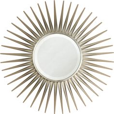 silver leaf starburst {what is this made of? Is that a tray or a mirror in the middle? don't know, but it's awesome, regardless!}