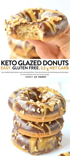 Satisfy your sweet tooth while on the keto diet with donuts! These 35 low carb keto donut recipes are the best of the best and they're so easy to make. Low Carb Donut, Paleo Donut, Keto Donuts, Baked Donuts, Keto Cookies, Healthy Donuts, Chip Cookies, Diet Desserts, Keto Friendly Desserts