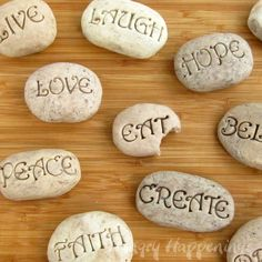 Edible rocks! These would be good for an object lesson- Things are not always as they seem. They are called- Sweet Serenity Stones