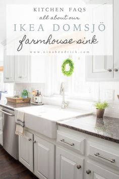 Before and After | All About Our Ikea Farmhouse Domsjo Sink Review