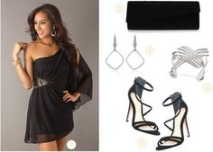 Prom Outfit Idea featuring a Black Cocktail Dress