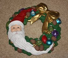 Handpainted Colorful Ceramic Wreath with by FlutterbyConnections, $59.95