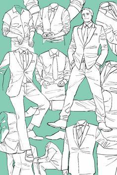 정장 Drawing Reference Poses, Drawing Poses, Design Reference, Suit Drawing, Manga Drawing, Drawing Practice, Figure Drawing, Art Sketches, Art Drawings