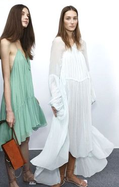 Chloé Spring 2015 backstage / Wedding Guest Style Inspiration / LANE (instagram: the_lane)