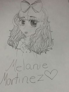 My drawing of Melanie Martinez (If u have seen this before it's because I pinned it on my moms phone)