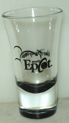 Walt Disney World Epcot Mickey Mouse Black Clear Shot Glass Shooter  - This Item is for sale at LB General Store http://stores.ebay.com/LB-General-Store ~Free Domestic Shipping ~