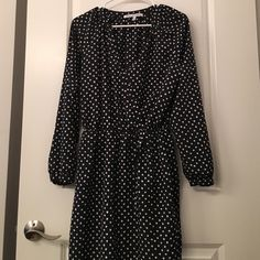 SALECollective Concepts Polka Dot Dress This polka dot dress features long sleeves, an elastic waist band, and a self tie waist. No signs of wear. Make me an offer! Collective Concepts Dresses Long Sleeve