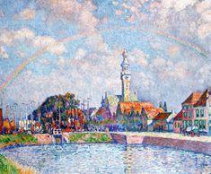 Rainbow over Veere,1906, Theo van Rysselberghe, Post-Impressionism