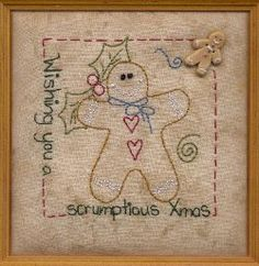 gingerbread man stitchery