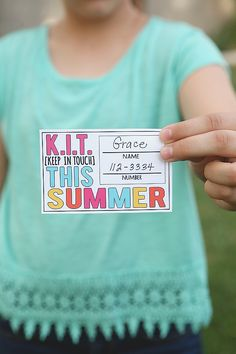 Keep in touch cards. Make your own and say after camp! Love this idea. Be sure to include Troop state and number!