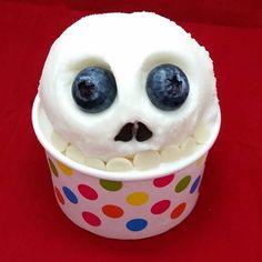 Froyo Skull.  Happy Halloween week! #lighthouseyogurtcompany