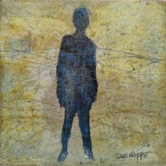 Available for sale, Still Waiting by South African artist Sue Hoppe, original mixed media on board artwork size 25 x 25 x Art For Sale Online, South African Artists, Still Waiting, Encaustic Art, Affordable Art, Online Art Gallery, Artwork, Painting, Work Of Art