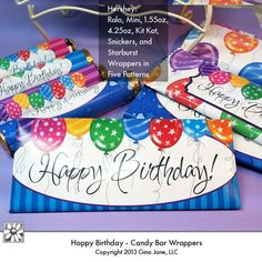 Free Printable Happy Birthday Candy Bar Wrapper Ready To