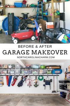 One of the things we were really excited about when we purchased our home was having a garage! Not only for space to park our cars, but also for storage for ALL the things that were previously stashed in random. Mud Room Garage, Garage Shed, Diy Garage, Garage Ideas, Garage Organisation, Home Organization, Organisation Ideas, Organizing Ideas, Garage Shelving