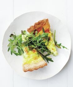 Want to trim this recipe down to just 10 minutes of hands-on prep? Use a store-bought piecrust. Get the recipe for Pea, Scallion, and Gruyère Quiche .