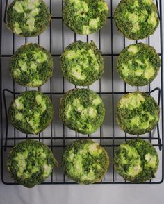 Egg muffins with spinach broccoli and ricotta cheese for our breakfast by mybasket