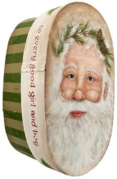Laughter and Joy Santa Box -- Paint this jolly Santa on an heirloom box.