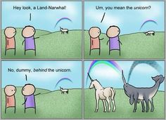 Land-Narwhal and Unicorn