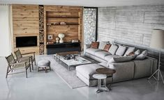 Home And Living, Living Room Decor, Furniture Design, Villa, Indoor, Interior Design, Home Decor, Sectional Sofas, Design Trends