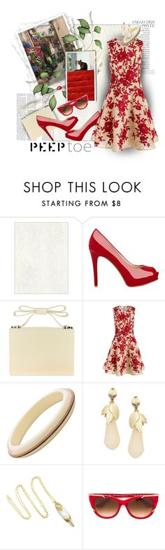 """""""Seeing Red !!"""" by kateo ❤ liked on Polyvore featuring GUESS, By Terry, Nina, Naeem Khan, Robert Rose, Thierry Lasry, peeptoe and 5509"""
