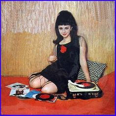 girl with records