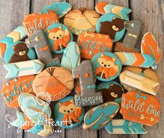Boho Chic Wild One Baby Shower Cookies 1 by SugaredHeartsBakery