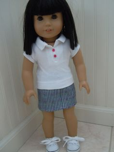 American girl doll or 18 doll outfit skirt by CharsBoutique1958