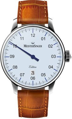MeisterSinger Watch N. 03 Limited Edition #bezel-fixed #bracelet-strap-leather #brand-meistersinger #case-depth-11mm #case-material-steel #case-width-43mm #date-yes #delivery-timescale-call-us #dial-colour-white #gender-mens #luxury #movement-automatic #new-product-yes #official-stockist-for-meistersinger-watches #packaging-meistersinger-watch-packaging #style-dress #subcat-n-03 #supplier-model-no-ed908-sc03-sc04 #warranty-meistersinger-official-2-year-guarantee #water-resistant-50m