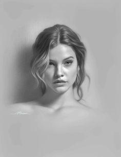 Portrait Artworks by Musa Celik - Art Drawings Portrait Au Crayon, Pencil Portrait Drawing, Portrait Sketches, Drawing Portraits, How To Draw Portraits, Realistic Pencil Drawings, Pencil Art Drawings, Drawing Faces, Rose Drawings