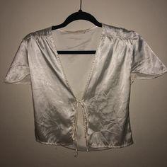 4b66bbe0751 Brandy Melville John galt silk tie shirt. - Depop Tied Shirt