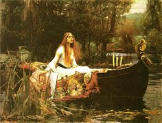 John William Waterhouse, RA (1849-1917), The Lady of Shalott, 1888. Oil on canvas, 153 x 200 cm. Tate: Presented by Sir Henry Tate 1894. Photo © Tate, London, 2009.