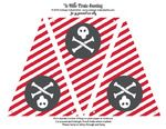 Pirate party - free pirate printables, cupcake wrappers, bunting, invites, envelopes, etc...