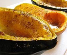 Baked butternut squash with butter, cinnamon, nutmeg and brown sugar- so good!!