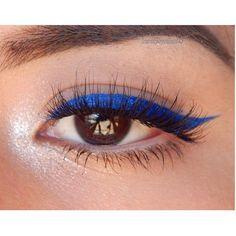 Blue liquid eyeliner. NYX cosmetics