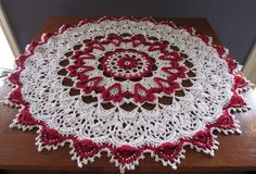 Infinite Love doily made as a table topper. Made with 3/2 perle cotton I purchased at WEBS America's Yarn Store and measures 27 inches across. Pattern available at Amazon.com http://www.amazon.com/Infinite-Love-Patricia-Kristoffersen-ebook/dp/B00Q1S8P8E/ref=sr_1_1?s=digital-text&ie=UTF8&qid=1416770601&sr=1-1