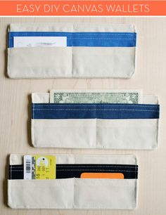 How To: Make a Simple Canvas Wallet