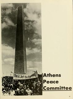 "Athena Yearbook, 1970. ""Athens Peace Committee""  :: Ohio University Archives"