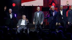 Ex-Presidents and Trump Show Unity at Hurricane Benefit Concert