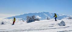 Skiing on Mount Olympus