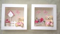Risultati immagini per cuadros Felt Kids, Kids Room Paint, Baby Frame, Baby Memories, Clay Design, Boys Room Decor, Handmade Home, Baby Prints, Box Frames